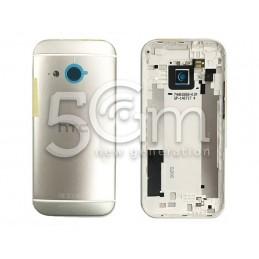 Retro Cover Silver-White  HTC One Mini 2