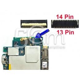 Connettore 13/14 Pin Su Scheda Madre Connessione Fotocamera Frontale Xperia Z3 D6603