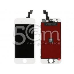 Display Touch Bianco + Frame iPhone 5S - SE No Logo Flex