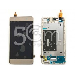 Display Touch Gold + Frame Huawei G Play Mini