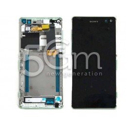 Display Touch Nero + Frame Mint Xperia C5 Ultra E5533