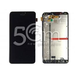 Display Touch Nero + Frame Nokia 640 Lumia XL Ori