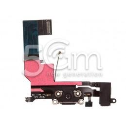 Connettore Di Ricarica Nero Flat Cable iPhone 5S No Logo