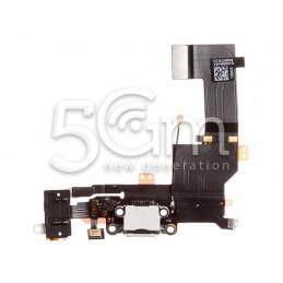 Connettore Di Ricarica Bianco Flat Cable iPhone 5S No Logo