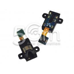 Flat Cable Jack Audio Nero Samsung T211