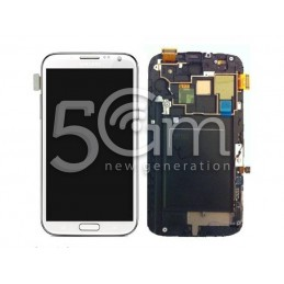 Display Touch Bianco + Frame Samsung N7105