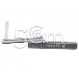 Sportellino Copertura Micro SD Bianco Xperia T2 Ultra Dual