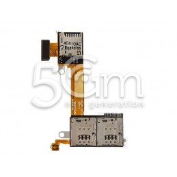 Lettore Dual SIm + Memory Card Flat Cable Xperia M2
