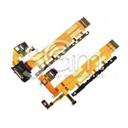 Accensione + Connettore Di Ricarica Flat Cable Xperia Z3+