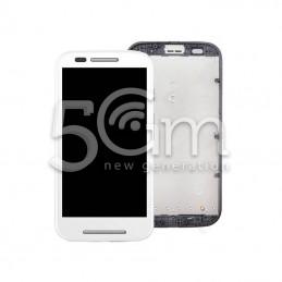 Display Touch Bianco + Frame Motorola Moto E