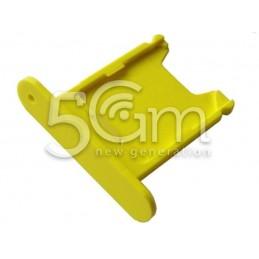 Supporto Sim Card Giallo Nokia 920 Lumia