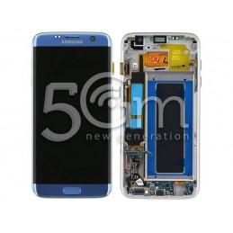 Display Touch Light Blue + Frame Samsung SM-G935 S7 EDGE OEM
