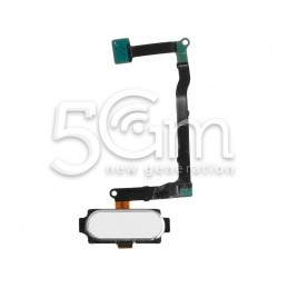 Tasto Home Flat Cable Bianco Samsung SM-N920 Note 5