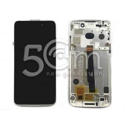 Display Touch Nero + Frame Silver Alcatel OT-6060S Idol 5S