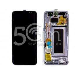 """Display Touch Black + Frame Samsung SM-G950 S8 """"Violet"""""""