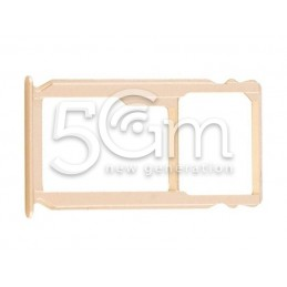 Supporto Sim card/SD Card Gold Huawei Mate S