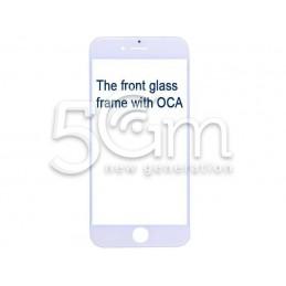 Vetro Bianco Con Pellicola Oca + Frame iPhone 7