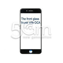Vetro Nero Con Pellicola Oca + Frame iPhone 7 Plus
