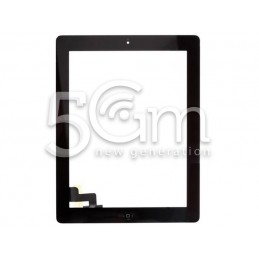 Touch Screen Nero + Biadesivo + Tasto Centrale Completo Ipad 2