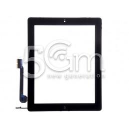 Touch Screen Nero + Tasto Home Completo + Adesivo iPad 4