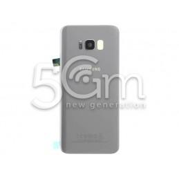 Retro Cover Silver Samsung SM-G955 S8 Edge