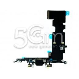 Connettore Di Ricarica Nero Flat Cable iPhone 8 Plus