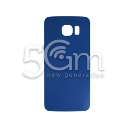 Retro Cover Blu Scuro Samsung SM-G920 S6 No Logo