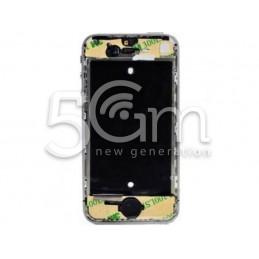 Middle Board + Tasto Home Nero Completo Iphone 4