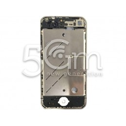 Middle Board + Tasto Home Bianco Completo Iphone 4