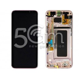 Display Touch Pink + Frame Samsung SM-G955F S8 Plus
