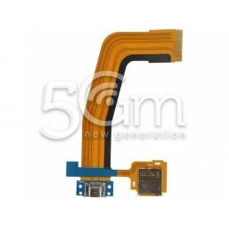 Connettore Di Ricarica Flat Cable + Lettore Card Samsung SM-T800