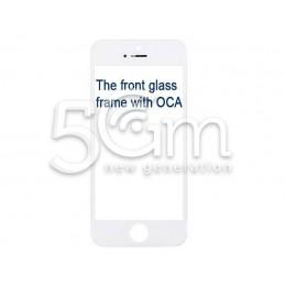 Vetro Bianco Con Pellicola Oca + Frame iPhone 5S