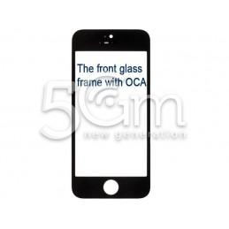 Vetro Nero Con Pellicola Oca + Frame iPhone 5C