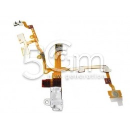 Flat Cable Audio Bianco Iphone 3gs