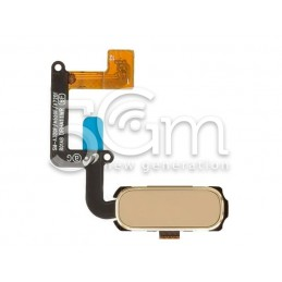 Tasto Home Gold Flat Cable Samsung SM-A320F A3 2017