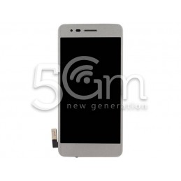 Display Touch Silver + Frame LG K8 2017 M200N