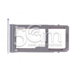 Supporto Dual Sim + Micro SD Light Blue Samsung SM-A720F A7 2017